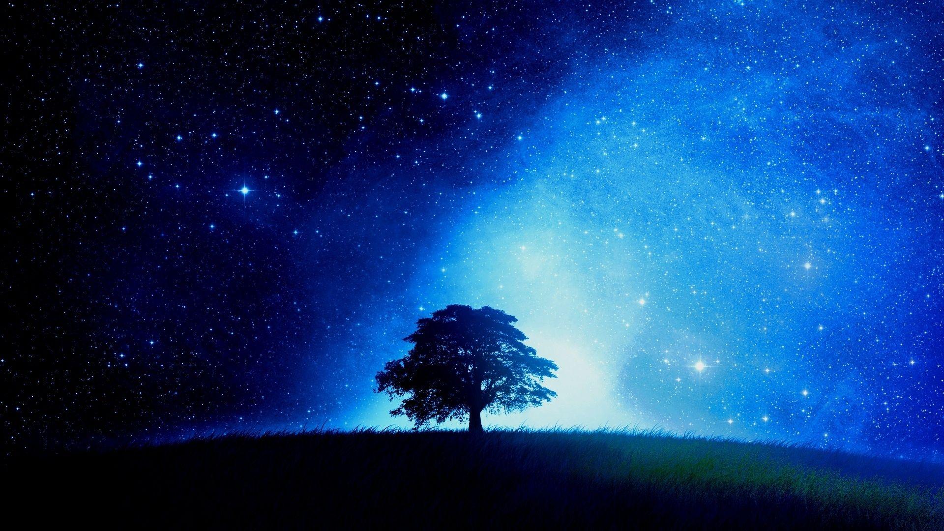 Night Stars Wallpaper Hd Backgrounds