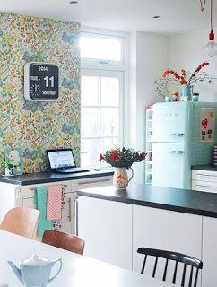 Papel pintado para la cocina de verano | Mi Casa es Feng