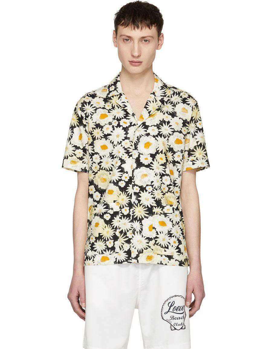 773794bcc h3>BURBERRY</h3> Black Short Sleeve Daisy Ska Jude Shirt | Men ...