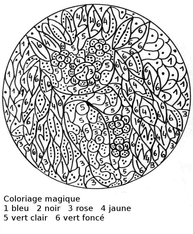 Coloriage Magique A Colorier Dessin A Imprimer Coloriage