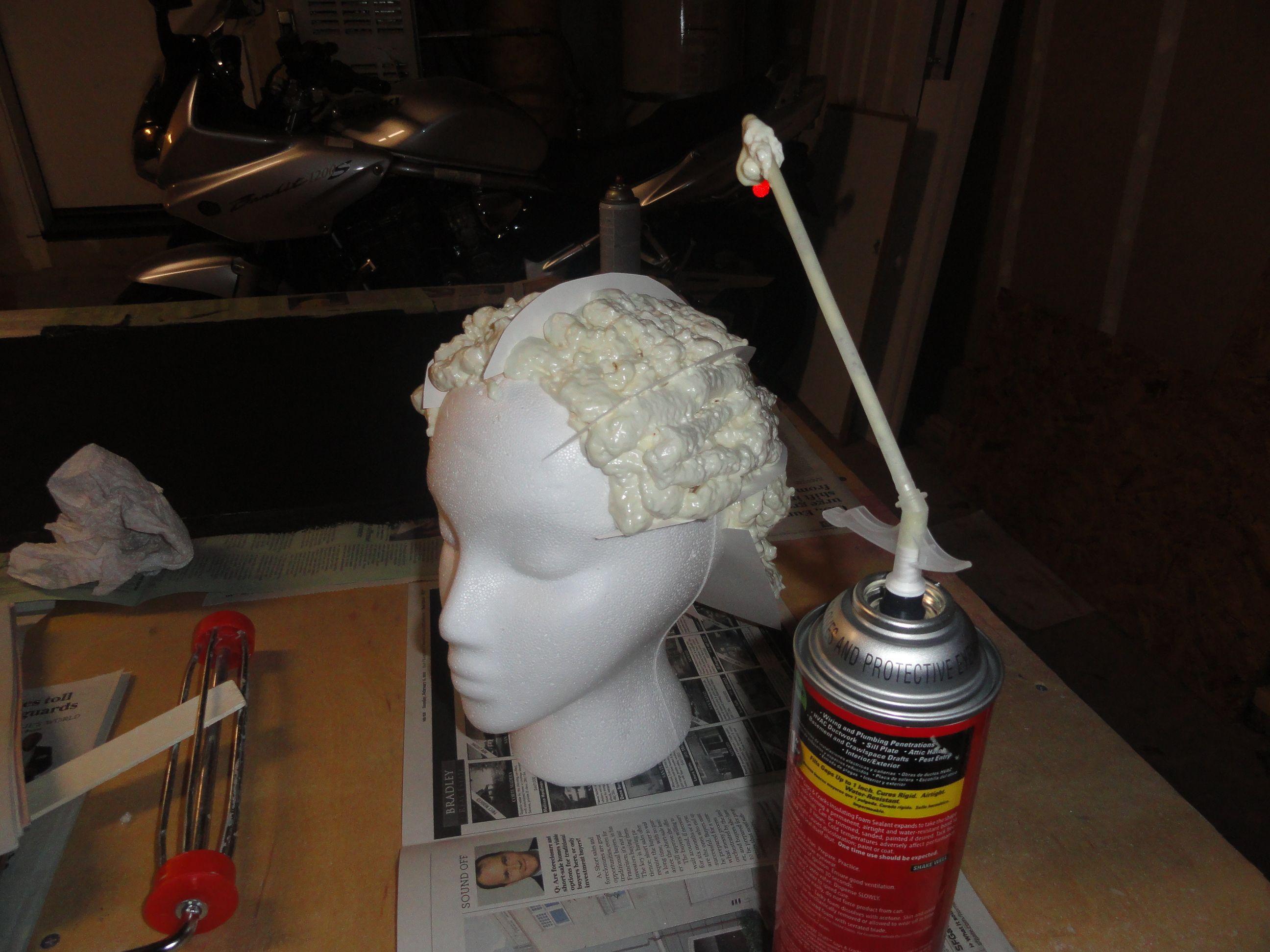 Expanding foam helmet tutorialCosplay DIYPinterestHow to