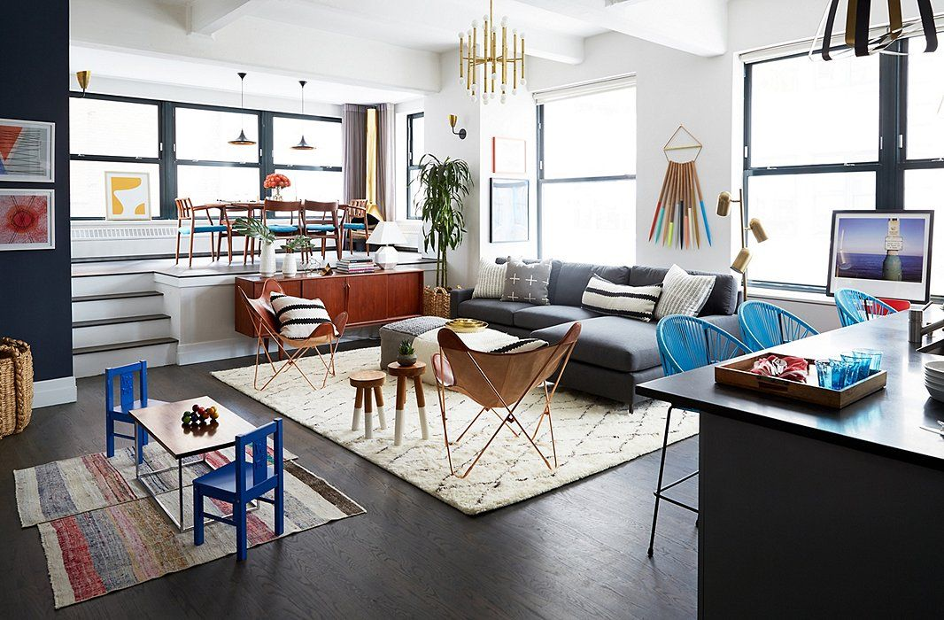 Kid #furniture And Open #layout In A Mid Century #modern Apartment