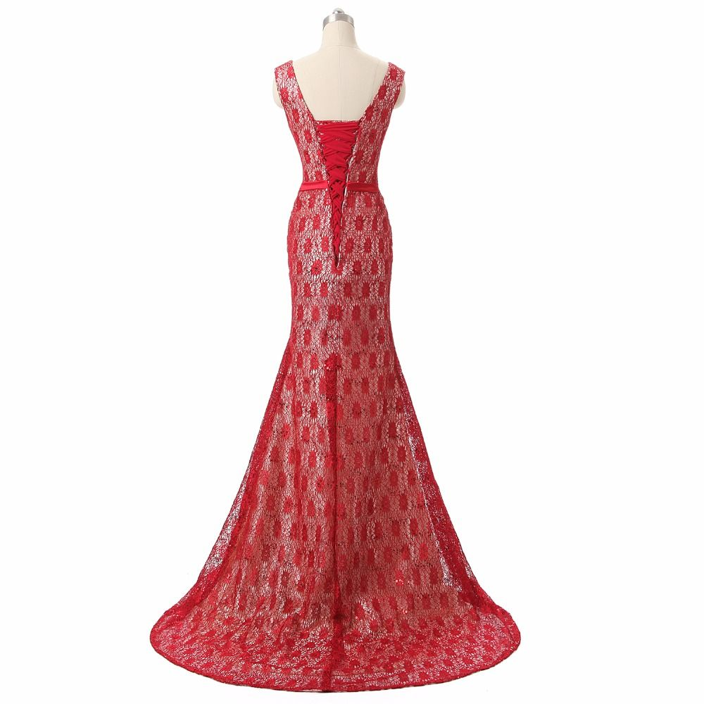 Evening wedding guest dresses  Vintage Red Lace Mother Of The Bride Dresses  Mermaid Wedding