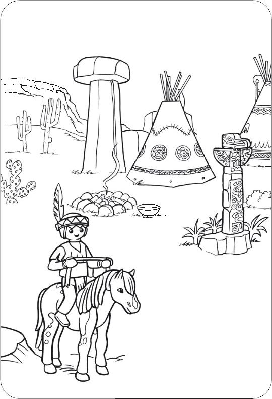 Ausmalbilder Playmobil Indianer Ausmalbilder