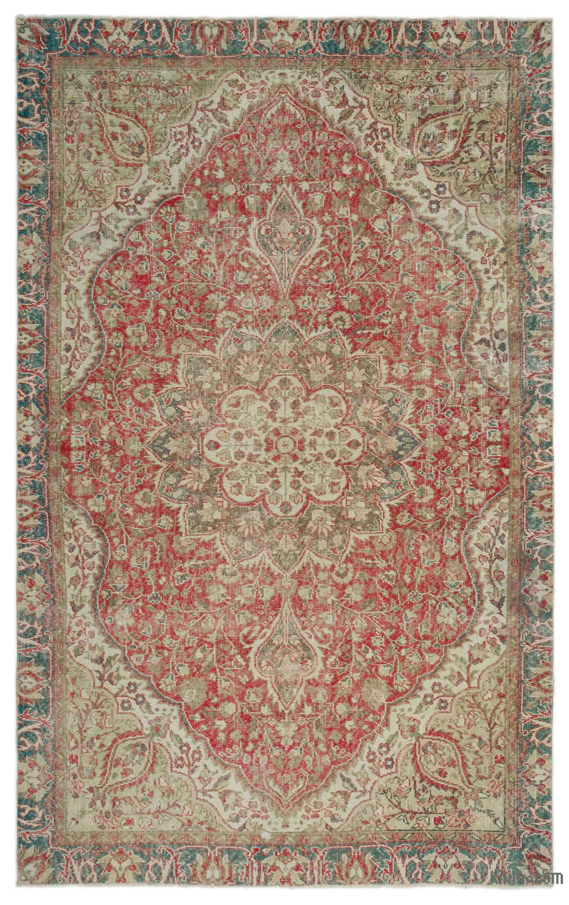 Turkish Vintage Area Rug 6 X 9 9 72 In X 117 In With