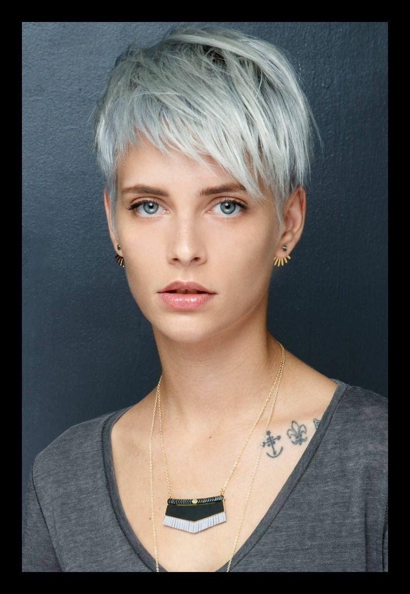 Feines Haar Kurzhaarfrisuren 2018 Frauen Grau Blond Angesagtesten