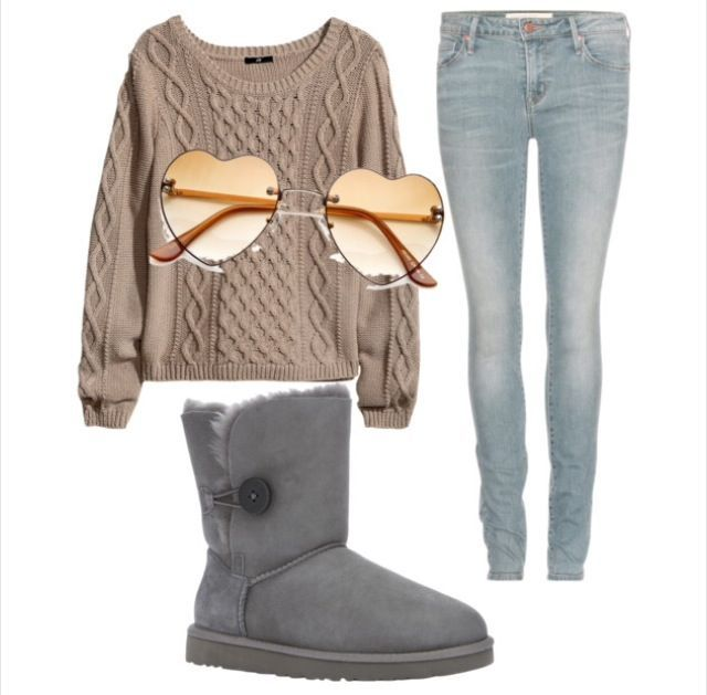 Fashion Teen Juniors Cute outfits Cute clothes Ugg boots Christmas Winter  Sweater Shades Sunglasses #juniorscuteclothes - Fashion Teen Juniors Cute Outfits Cute Clothes Ugg Boots Christmas