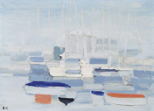 Nicolas De Stael Barques Dans Le Port Boats In The Harbour 1955