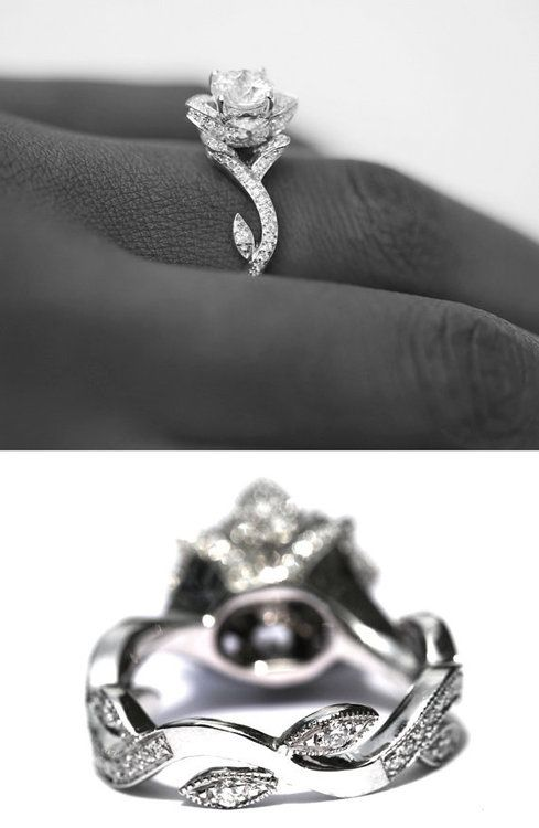 e8efecf4d3 Diamond ring made to look like a rose, OH MY WORD. | Something Old ...