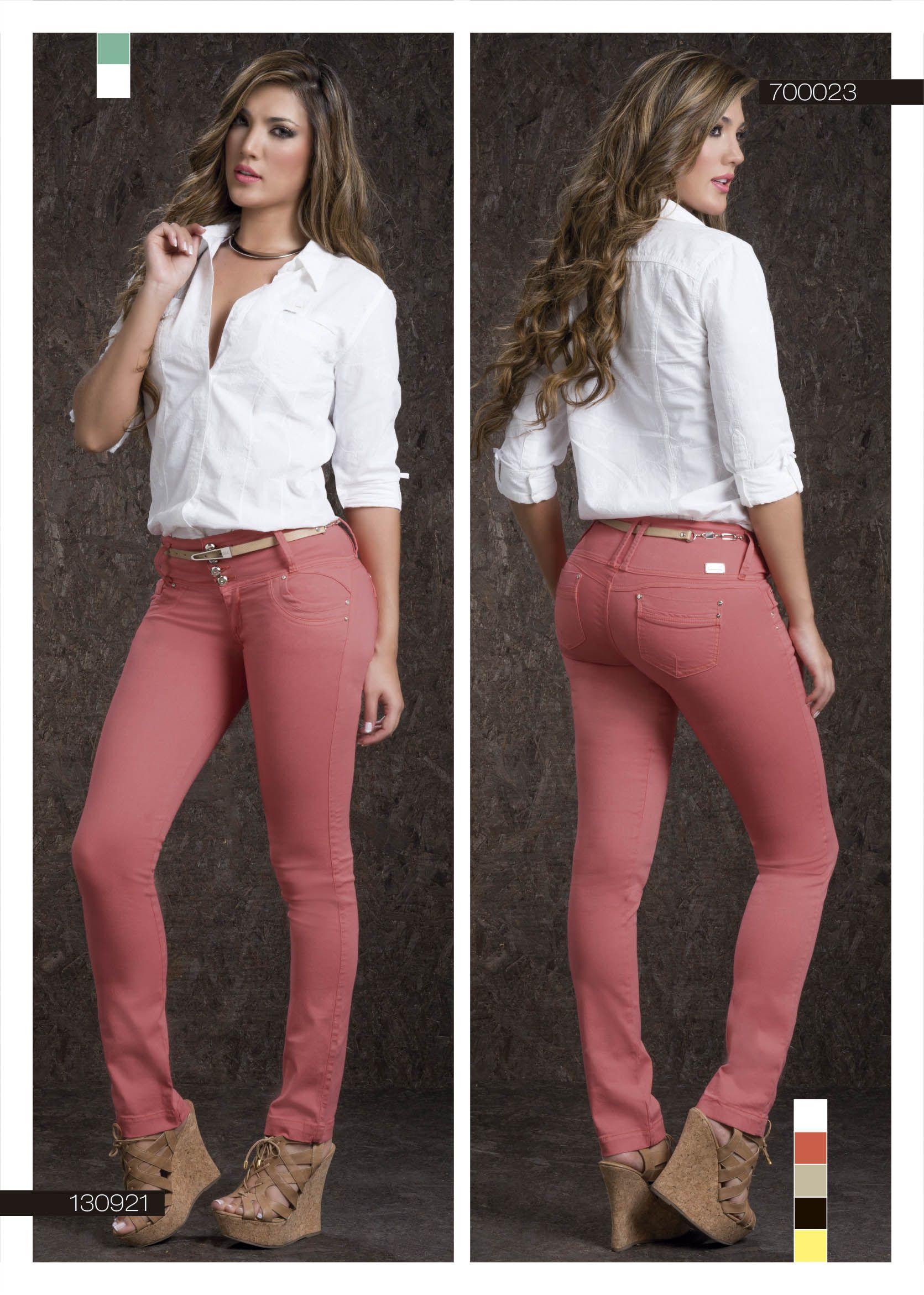 selección premium f504e 09182 pantalón-para-dama-color-palo-de-rosa-bota-tubo- blusa-para ...