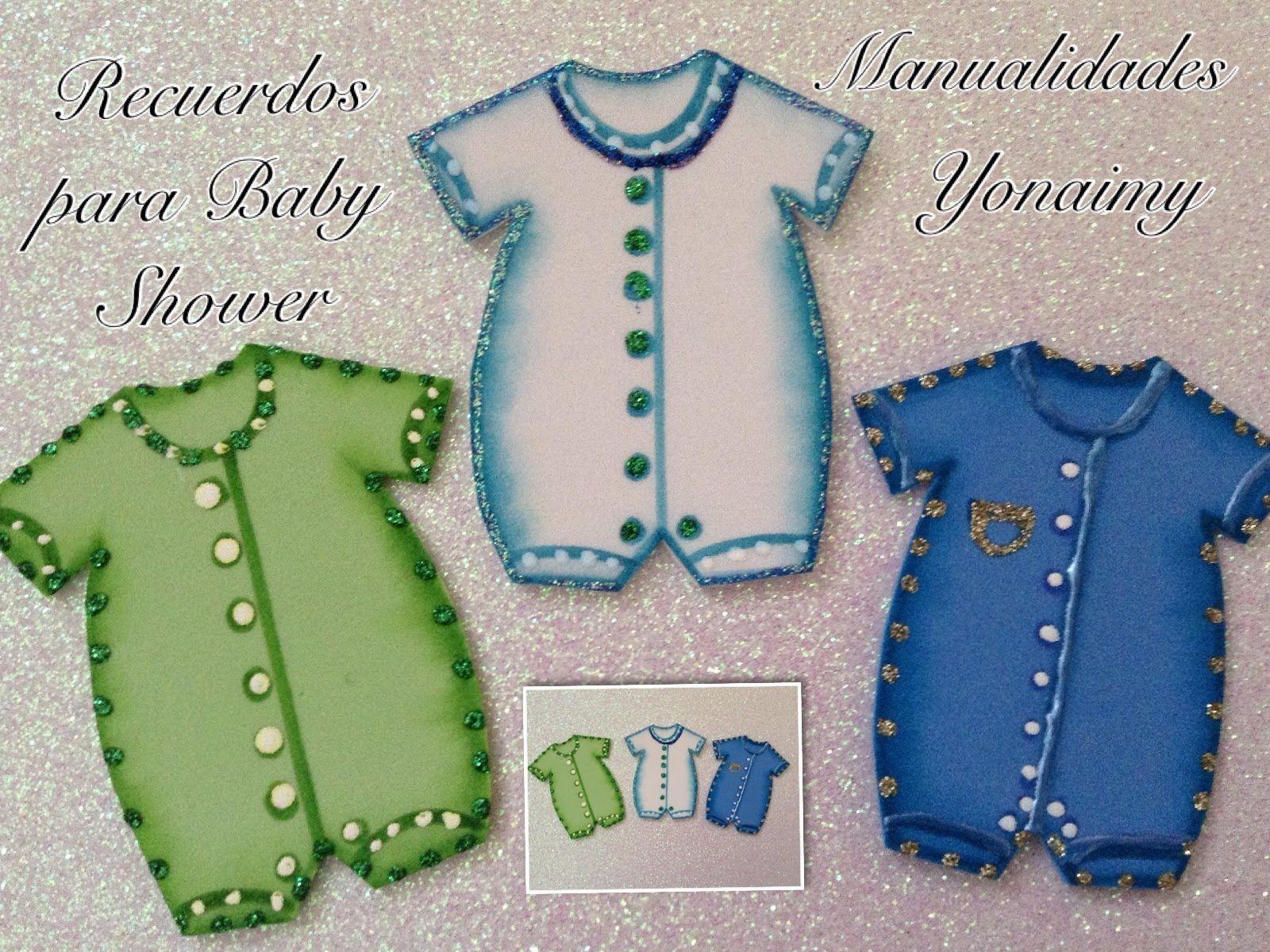 Baby Shower Manualidades Recuerdos ~ Mameluco de niÑo para baby shower hecho foamy o goma