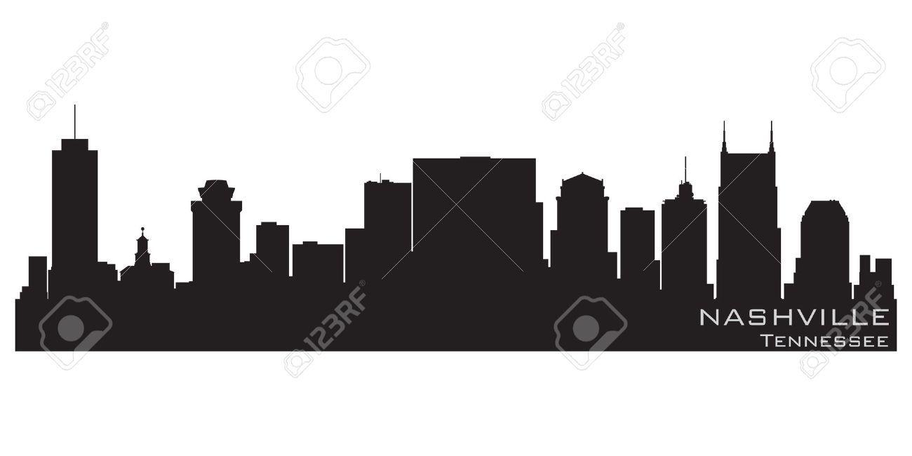 12875985 Nashville Tennessee Skyline Detailed Silhouette Stock Vector Jpg 1300 650 Nashville Skyline Nashville Tennessee Nashville