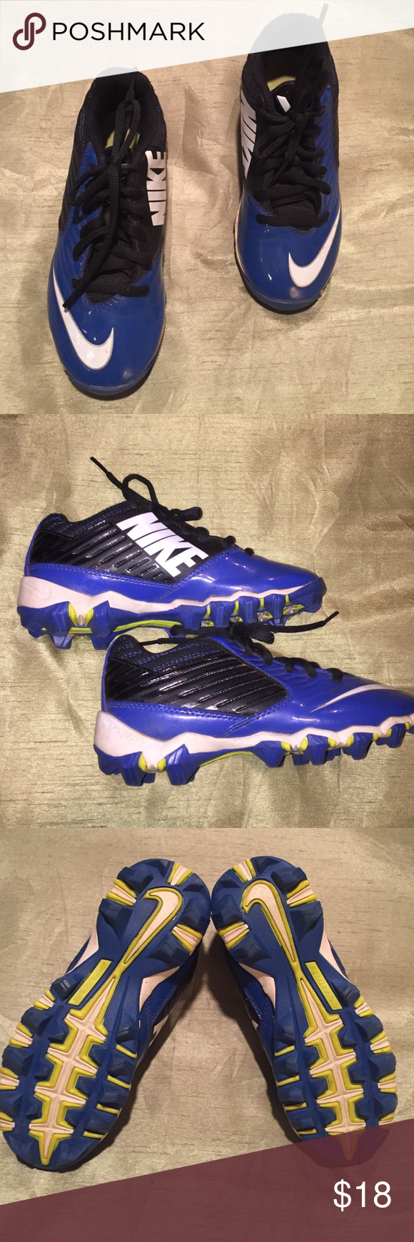 ‼️ FINAL PRICE ‼️ Nike kids football cleats NIKE kids cleats - great condition. Royal blue and white. Size 13 boys Nike Shoes Athletic Shoes