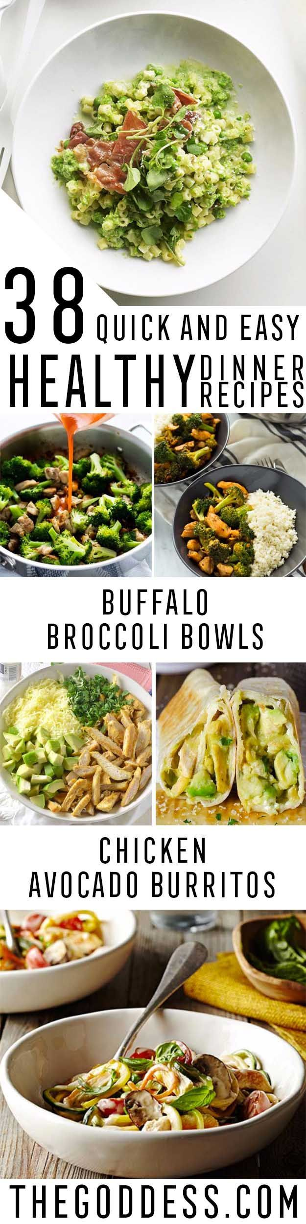38 Quick and Easy Healthy Dinner Recipes | Best Recipes ...