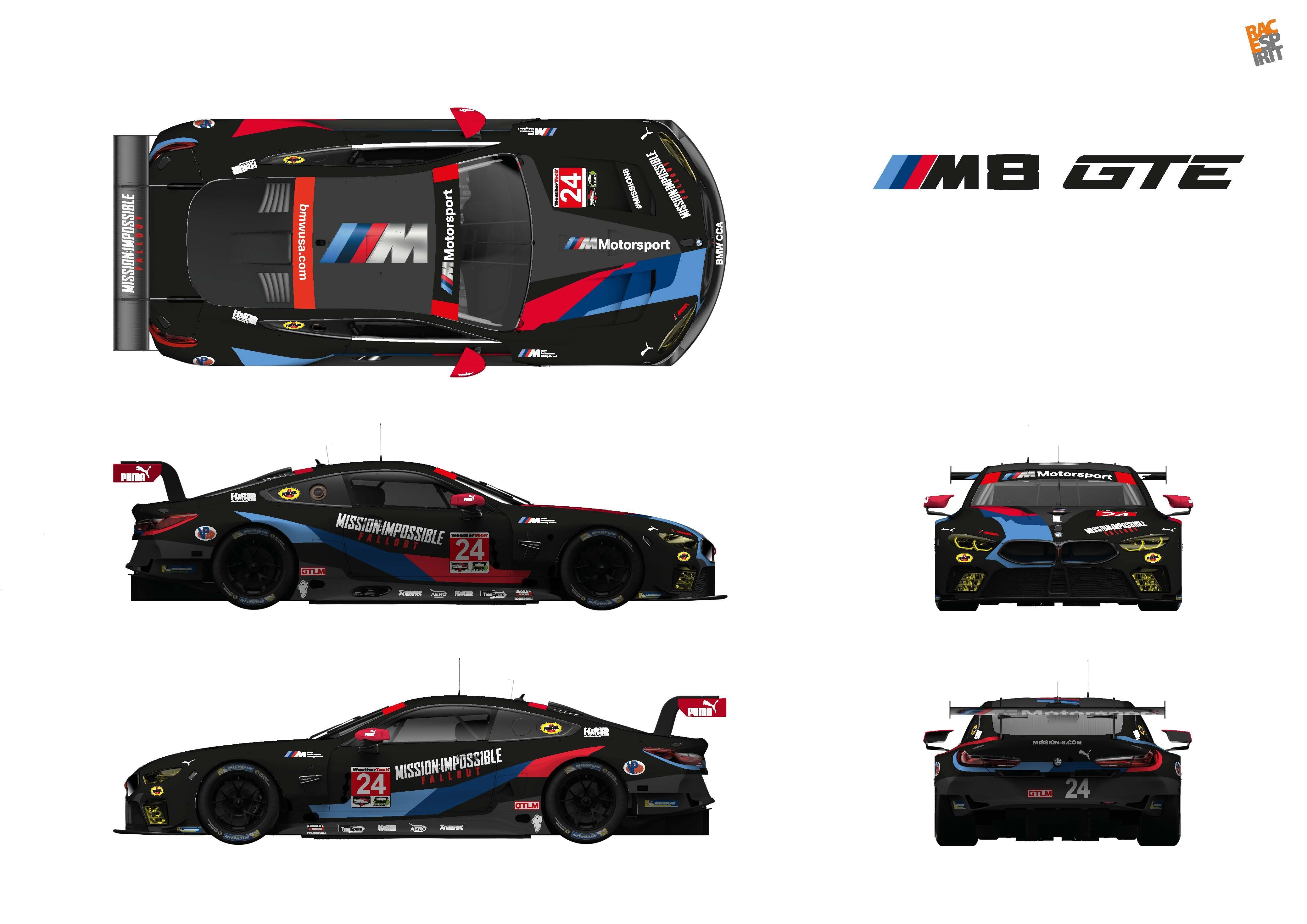 Bmw M8 Gte Cars Racing At Lime Rock To Wear Mission Impossible