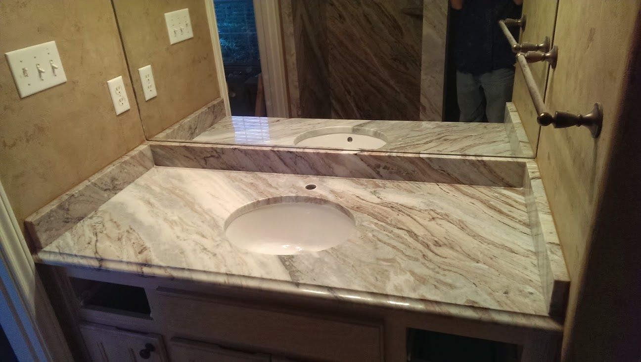 Fantasy Brown Granite Bathroom Counter Tops