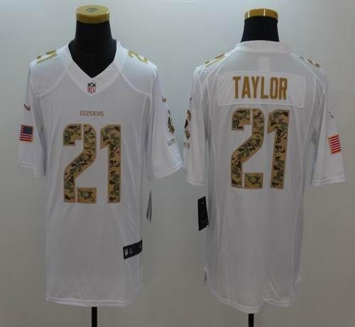 3b9d04718 Men's Washington Redskins #21 Sean Taylor Salute to Service White Limited  Jersey