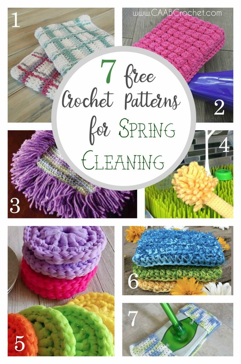 7 Reusable Crochet Patterns for Spring Cleaning | Pinterest