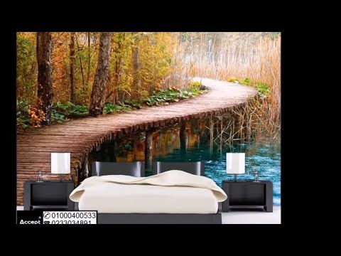 Pin By ورق جدران On طبيعة In 2021 3d Wallpaper Waterfall Outdoor Bed 3d Wallpaper