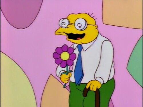Hans Moleman Bachelor Los Simpsons Los Simpson Caras Graciosas