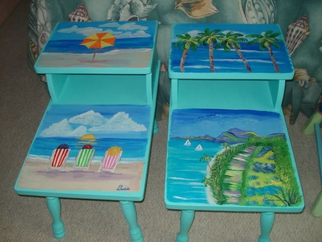 Best Coastal Painted Furniture Beach Tables Girls Sold 400 x 300