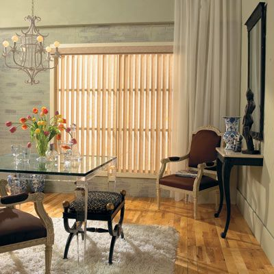 levolor vertical blinds are ideal for patio doors and large