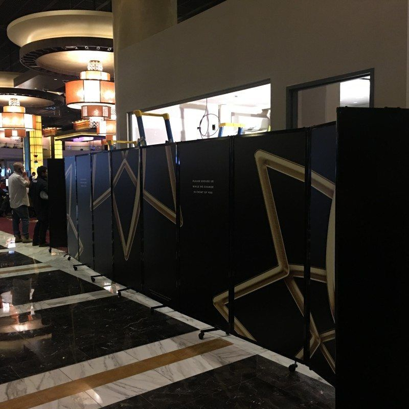 Mobile Room Dividers with 360 hinges at The Star casino in Sydney