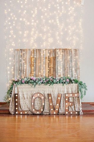 copper string lights wedding decor