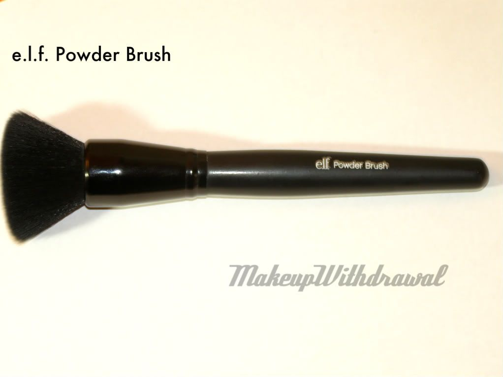 e.l.f. Powder Brush (Flat Top)-- only $3, this thing blends out foundations, or buffs away harsh lines like no other. I always come back to this brush.