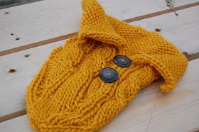 Tinkerknits Cabled Baby Cocoon Free Knitting Pattern Sewing