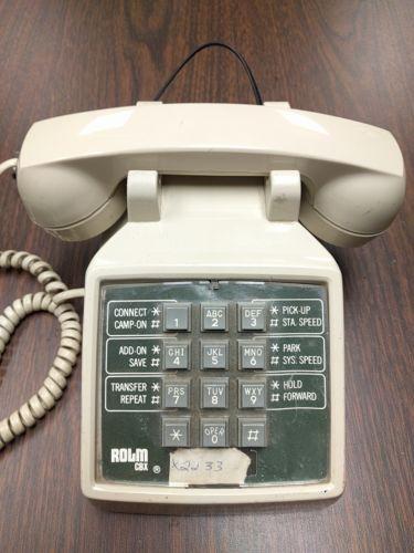 vintage rolm cbx pushbutton tan desk desktop phone 1989 rh pinterest com Clean Room Telephones Rolm Telephone Features