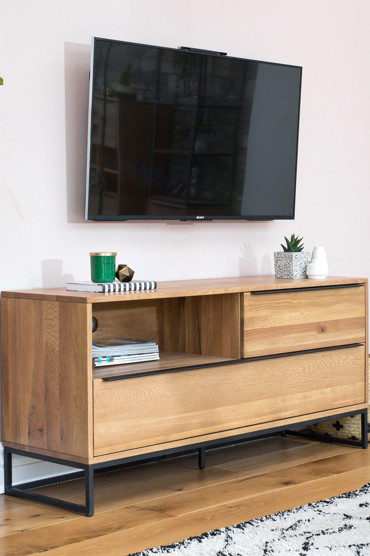 Meuble Tv Avec Rangement Volga En 2020 Meuble Tv Meuble Tv Rangement Meuble Tv Bois Metal