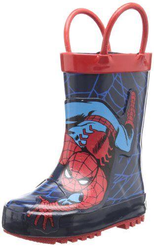Disney Store Spider-Man  Rain Boots  Shoes Size 10