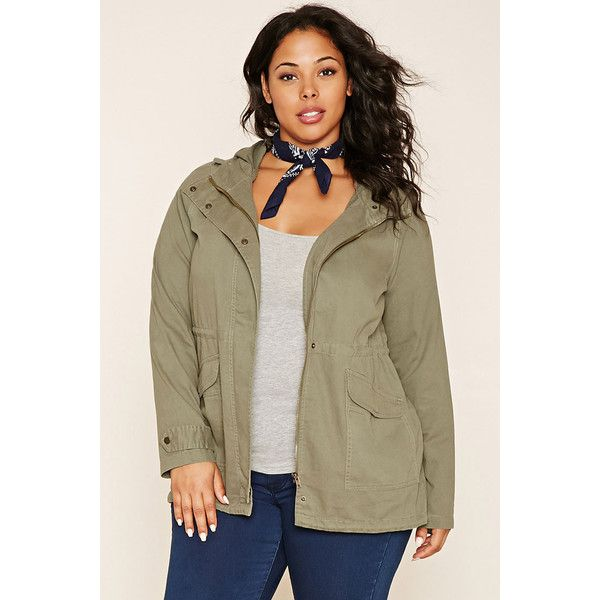 98765430d35 Forever 21 Plus Women s Plus Size Utility Jacket (€27) ❤ liked on Polyvore  featuring plus size women s fashion