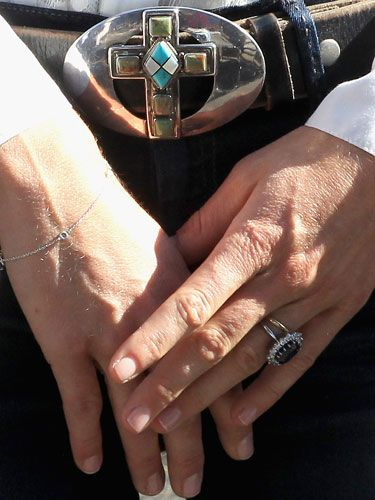 Close Up On Kate Middletons Dainty Bracelet Wedding Rings And Cute Belt Buckle
