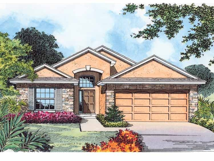 Contemporary-Modern House Plan with 1658 Square Feet and 3 Bedrooms