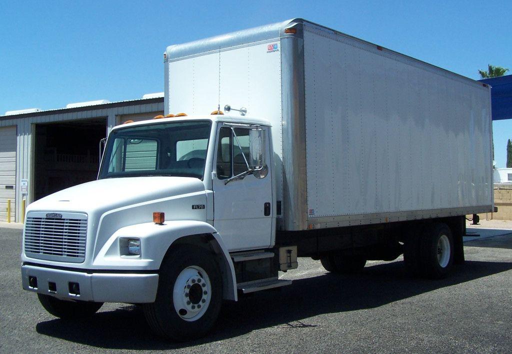 1996 Freightliner Fl70 Box Truck A Hard To Find Low Mileage Non Cdl Box Truck Large Cummins 8 3 Liter Diesel Motor 6 Spd Freightliner Trucks Air Ride