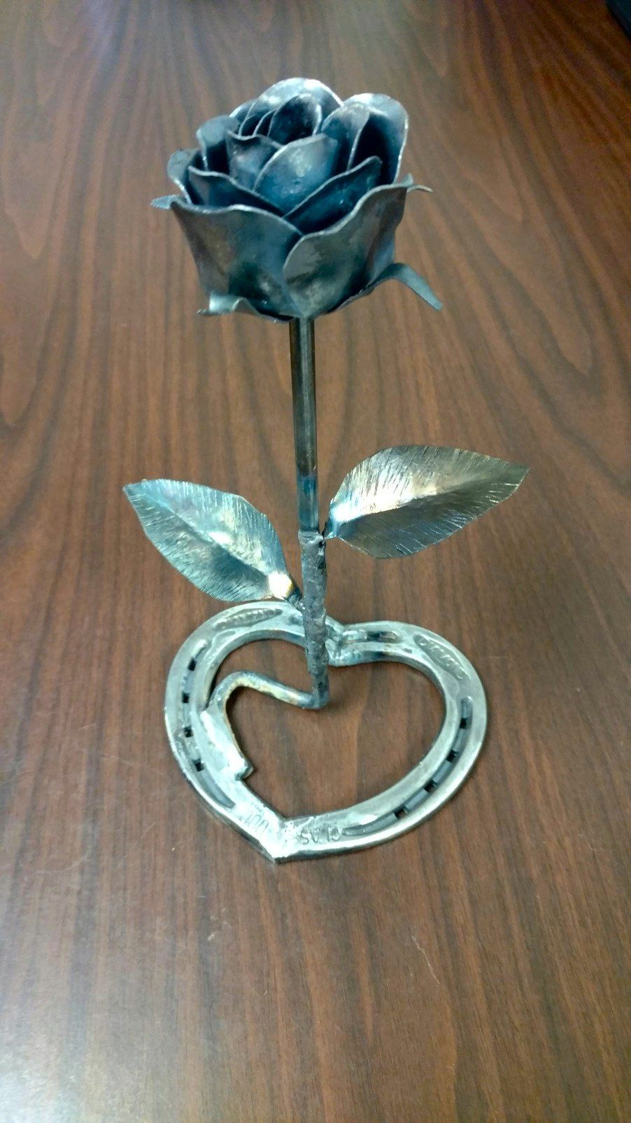 My First Attempt At Metal Roses Rose Pinterest Metals