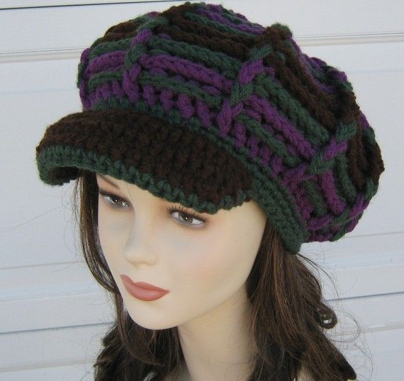 5fc6a674 Custom color Visor Tam Hat Hippie Dreads by PurpleSageDesignz on etsy ***I  can't wait for the cold weather so I can wear my hats!!!!!***