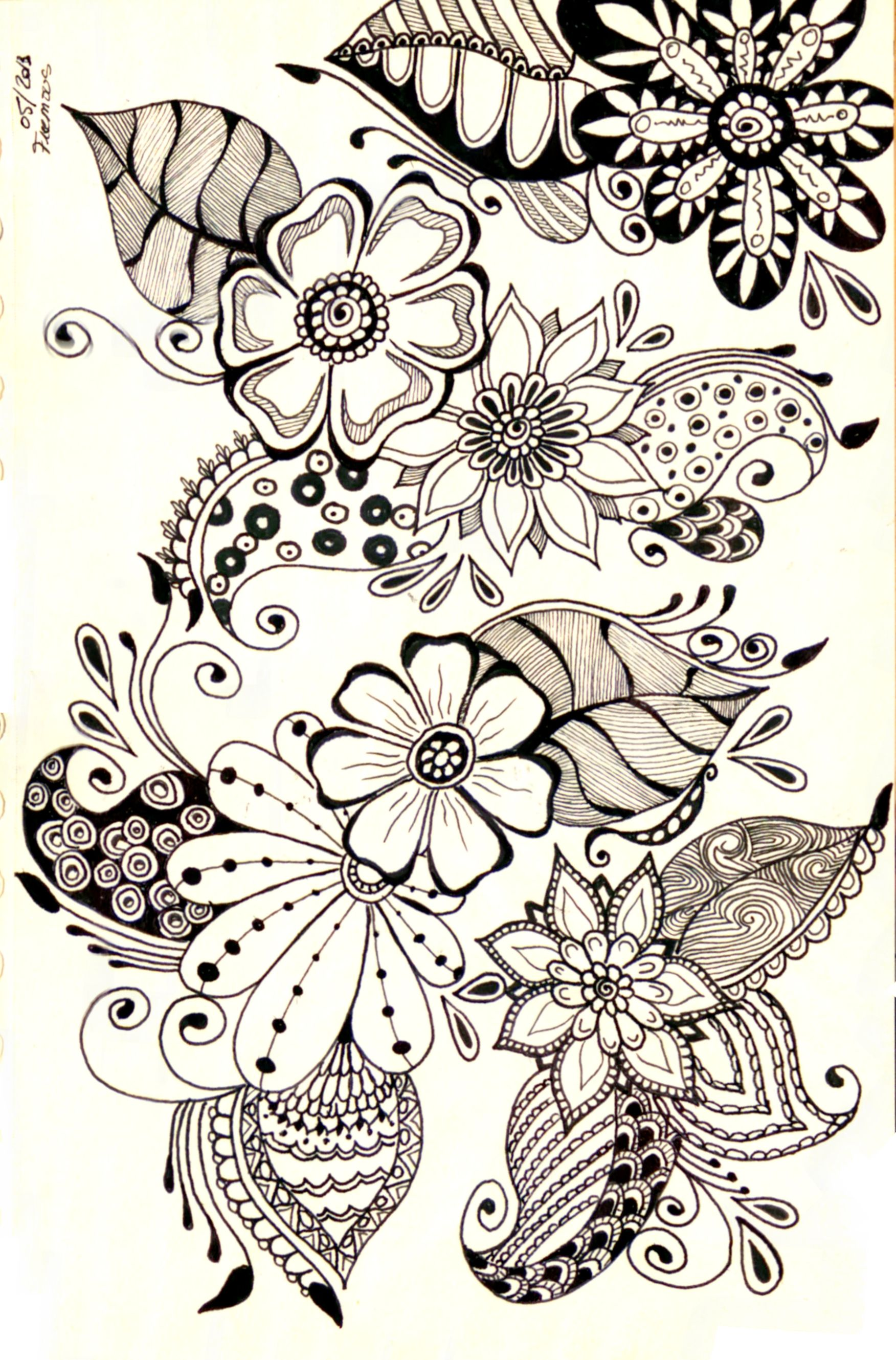 Floral designs doodle how to flowers in 2019 drawings - Doodle dessin ...