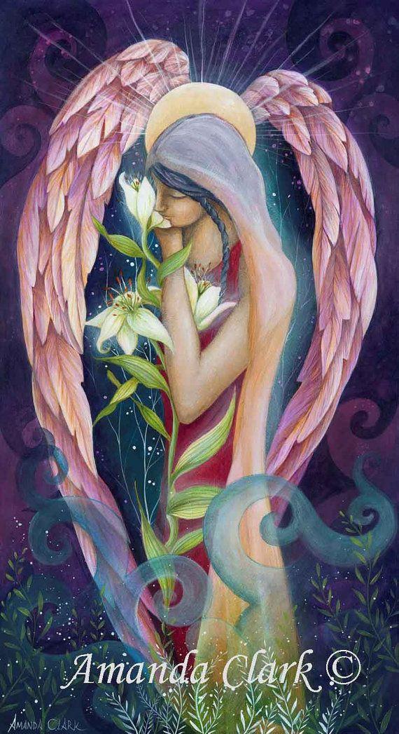 Archangel Gabriel by Amanda Clark. by earthangelsarts on Etsy