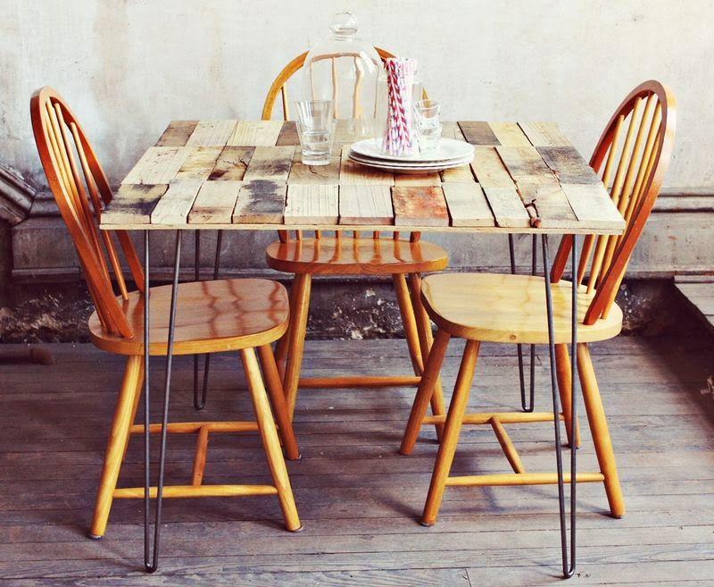 Muebles de Palets: Como hacer una mesa rústica con tablas de palets ...