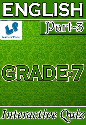 7 Cbse English Part 3 Interactive Quizzes Worksheets On Types Of