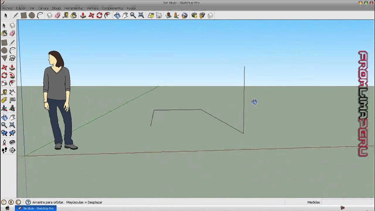 Tutorial google sketchup 8 espa ol parte 1 sketchup for Programas de arquitectura 3d