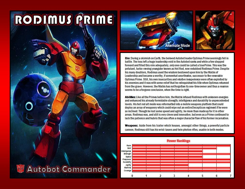 Rodimus Prime by CitizenPayne.deviantart.com on @DeviantArt