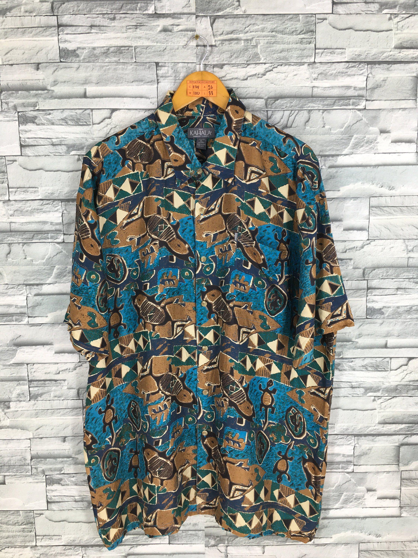 d63c82e5e KAHALA Hawaiian Shirt Xlarge Mens 90's Pop Art Insect Printed Abstract  Psychedelic Menswear Beach Party Shirt Silk Buttondown Size XL by  REPEATFASHIONSTORE ...