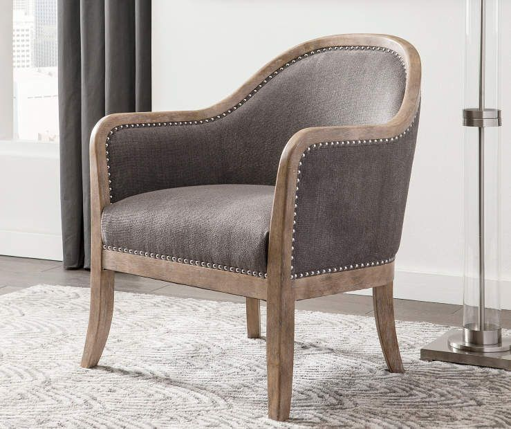 Engineer Taupe Accent Chair In 2020 Brown Accent Chair Accent