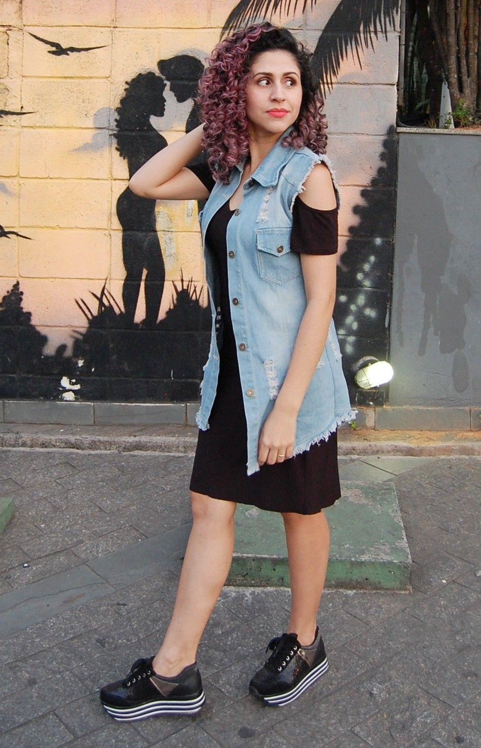 3a63cfec7e8a Look com Maxi Colete Look com vestido e Tênis Look com tênis Flatform