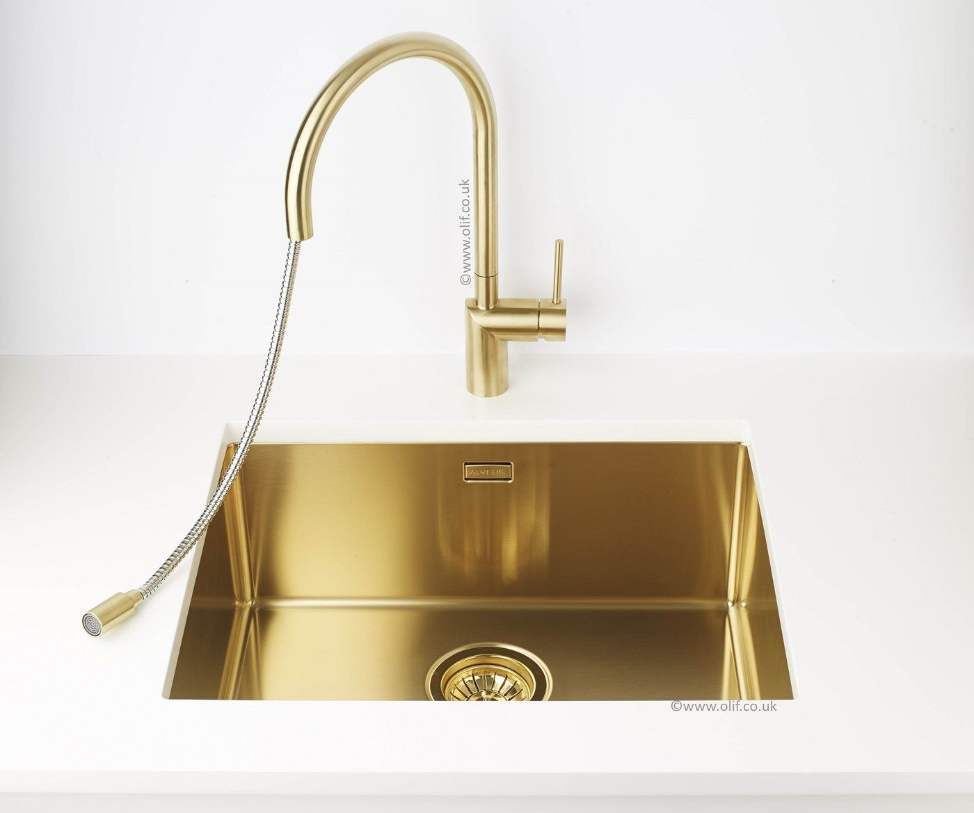 Brushed BrassGold, kitchen mixer tap