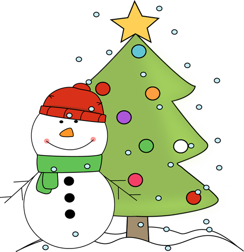 Cute Christmas Clip Art And Christmas Tree In The Snow Clip Art Snowman And Christmas Cute Christmas Tree Christmas Clipart Christmas Tree Clipart
